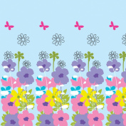 WallCandy Arts Removable Wallpaper, French Bull Shadow Flower Sky
