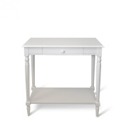 Convenience Concepts 6042188W French Country Hall Table with Drawer and Shelf - White