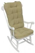 Greendale Home Fashions 5161 Cream Jumbo Rocking Chair Cushion Set- Hyatt fabric- Cream.