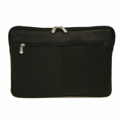 Piel Leather 2894-BLK 17In Zip Laptop Sleeve - Black