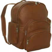 Piel Leather 7654 Expandable Backpack - Saddle