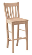 International Concepts Caf Stool 80cm Seat Height Unfinished
