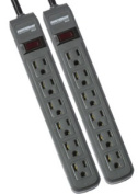 Minuteman Ups MM-MMS362P 2-Pack Strips 241 Joules 3-ft Cord