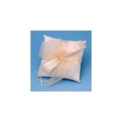 Beverly Clark 38BI Tres Beau Wedding Ring Bearer Pillow in Ivory