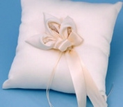 Beverly Clark A01075RP/IVO Calla Lily Ring Pillow - Ivory
