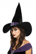 Costumes For All Occasions MR167151 Elegant Witch Hat Black Purple