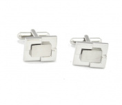 Aeropen International CU-02 2 Tone Silver Metal Cufflinks