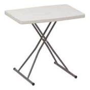 Iceberg Enterprises ICE65490 Personal Table- Adjusts 25 or 28in.H- 30in.x20in.x28- Platinum