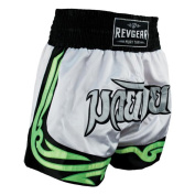 Revgear 609022Y WT XS - 6 - 8 Extra Small Youth Thai Fighter Shorts - White