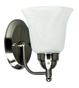 Efficient Lighting EL-240-01-123 Contemporary Wall Sconce Brushed Nickel Finish with Alabaster Glass