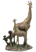 Unicorn Studios WU74734A4 Giraffe and Baby Giraffe Sculpture