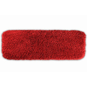 Garland Rug SER-2260-04 Serendipity 22 in. x 60 in. Shaggy Washable Nylon Rug Chili Pepper Red