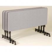 Correll FT2448-GRAY GRANITE Deluxe Flip Top Table with High-Pressure Top - Gray Granite