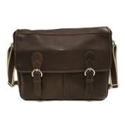 Piel Leather 2810-CHC Classic Expandable Messenger Bag - Chocolate