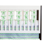 Oliver B OBC0103 City of Dreams 3-Piece Crib Bedding Set - Mint
