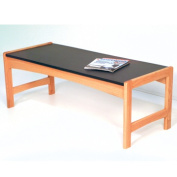 Wooden Mallet DT2-BGLO Coffee Table with Black Granite Look Top in Light Oak