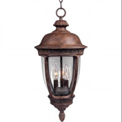 Maxim Lighting 3468CDSE 3 Light Knob Hill Outdoor Pendant, Sienna