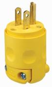 Leviton Mfg C20-515PV-000 Grounded PVC Commercial Grade Straight Blade Plug
