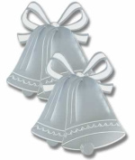 Beistle - 55443-S - Foil Wedding Bell Silhouette - Pack of 24