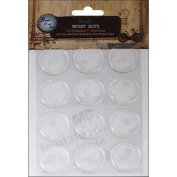 Bottle Cap 486487 Vintage Collection Standard Epoxy Dots 2.5cm . 12-Pkg