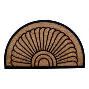 Imports Decor 705RBCM-L 36 x 24 Half-Round Rubber Back Coir Doormat Sunrise
