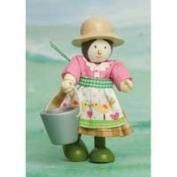 Le Toy Van BK930 New Budkins Bendy Wooden Farmers Wife Doll