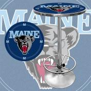 Trademark NCAA University of Maine 110cm Pub Table, Chrome