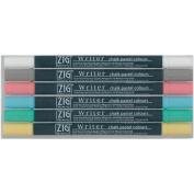 Zig MS65006V Zig Memory System Writer Chalk Pastel Dual-Tip Markers 6-Pkg