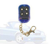 STELLAR VEHICLE SECURITY SYSTEMS 129030 4 Button Tr4 Blue Remote Faceplate