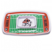 BSI PRODUCTS 32007 Chip and Dip Tray - Georgia Bulldogs