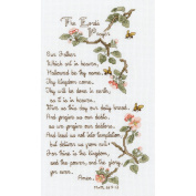 Janlynn 21-1403 The Lords Prayer Counted Cross Stitch Kit-5-1-5.1cm . x 25cm . 14 Count