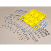 DuraHook 95-Piece Zinc Plated Steel Hook & Bin Assortment for DuraBoard or 0.3cm and 0.6cm Pegboard