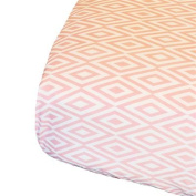Oliver B OBS0500 Diamond Crib Sheet - Pink and White