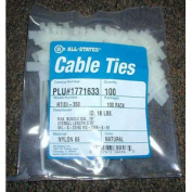 10.2cm Natural Cable Tie ID, Qty 100