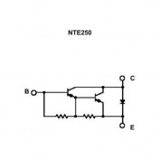 NTE250 TRANSISTOR PNP-SILICON 100V 16 AMP TO-3 CASE DARLINGTON POWER AMP