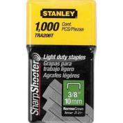 1cm LIGHT DUTY STAPLES / 1,000 UNITS / STANLEY / TRA206T