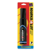 AVERY Marks-A-Lot Permanent Markers, Jumbo Size Chisel Tip