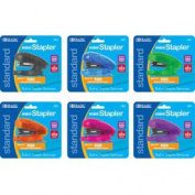 Bazic Mini Standard Stapler Assorted