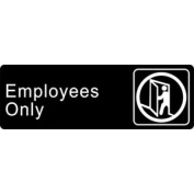 ADA Sign Employees Only