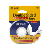 Bazic Double Sided Permanent Tape with Dispenser, 1.9cm x 1270cm