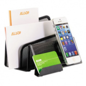 Allsop DeskTek Series Letter Sorter and Business Card Stand with Clingo Technology for Mobile Devices