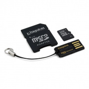 Kingston 32GB Micro SDHC Flash Card Mobility Kit (with a full size SD Adapter and USB reader) MBLY10G2/32GB