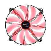 AeroCool EN55659 Silent Master 200mm Computer Case Fan, Red