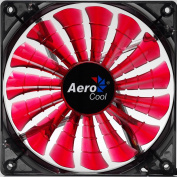 AeroCool EN55475 Shark 140mm Case Chassis Gamer Fan, Red