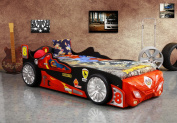 Viper Racing Car Kids Bed with Full Size Mattress