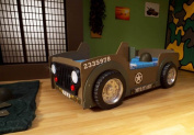 Jeep Racing Car Kids Bed with Full Size Mattress