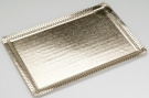 Pedrini 2 Rectangular Golden Cardboard Trays - 25 x 35cm