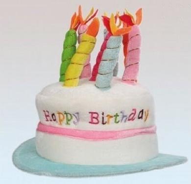 Adult Novelty Birthday Cake Hat Pink/Dark Pink