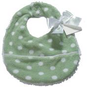 Pickles Bubbles Polka Dot Baby Bib, Green