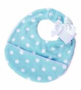 Pickles Bubbles Polka Dot Baby Bib, Blue